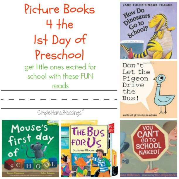 first day of school book list