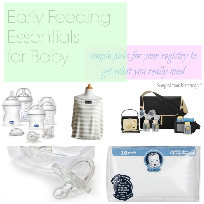 early feeding essentials for baby
