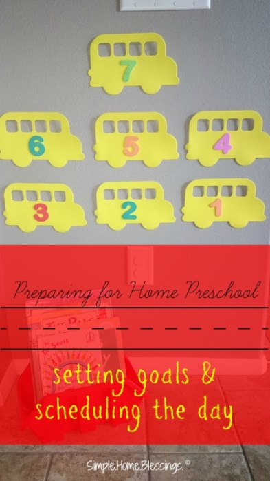 preparing for home preschool