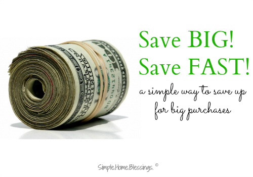 a simple tip for saving up for big purchases - FAST