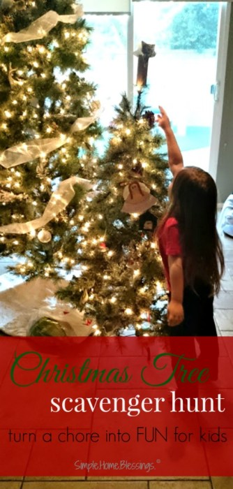 A Christmas Tree scavenger hunt turns a chore into FUN for kids