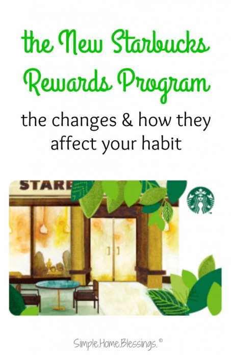 a quick analysis of the new Starbucks Rewards program scheduled to take effect in April 2016.