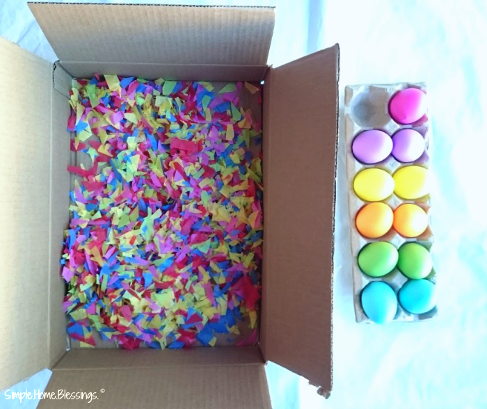Mosaic Easter Eggs - a simple art project for kids
