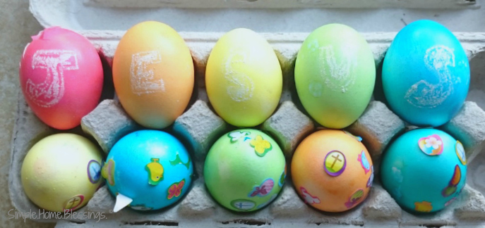 The reason for Easter - a simple egg dying activity