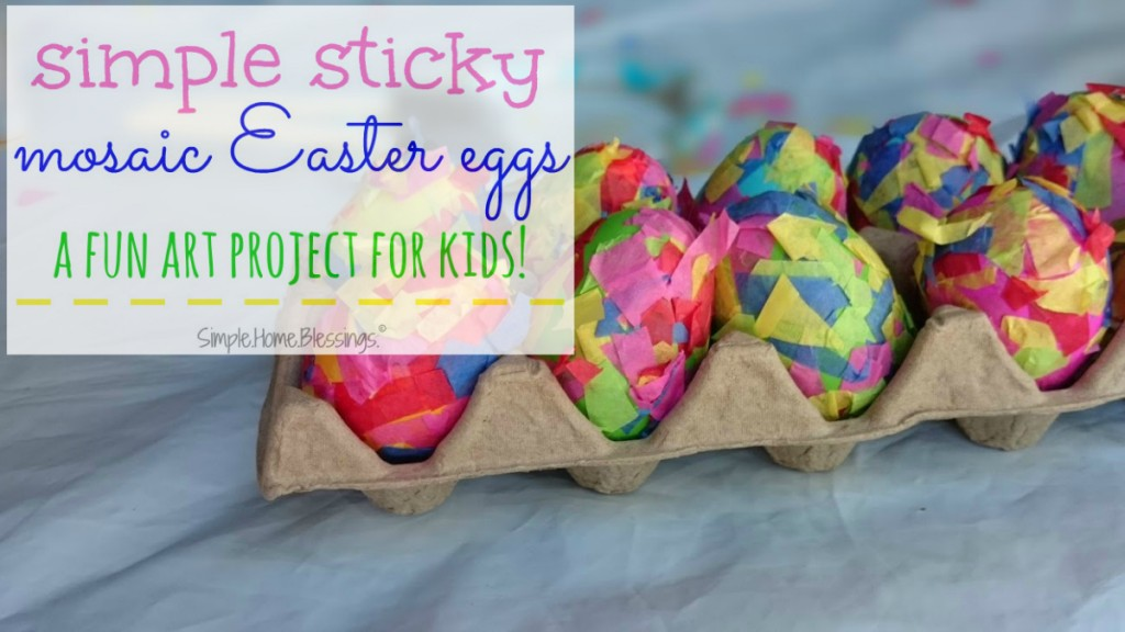 Simple Sticky Mosaic Easter Eggs