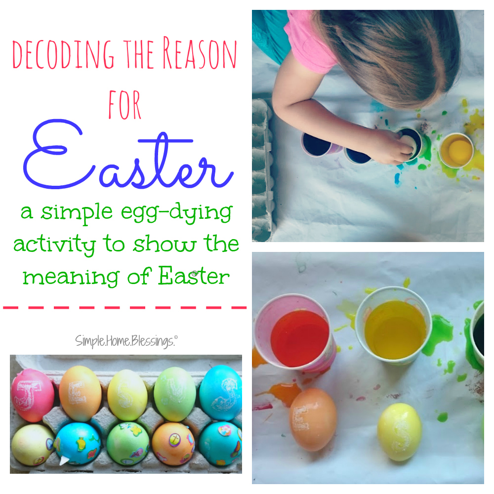 the reason for Easter - a simple activity to discover the real meaning of Easter