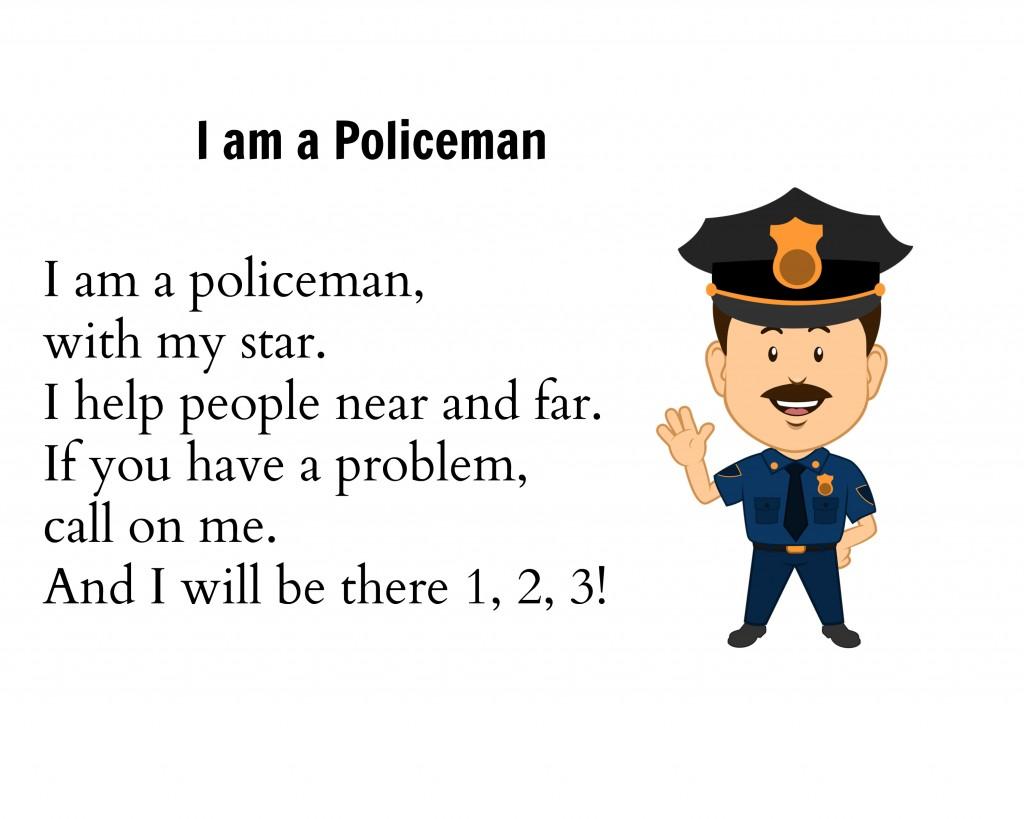 Preschool Helpers Police Men