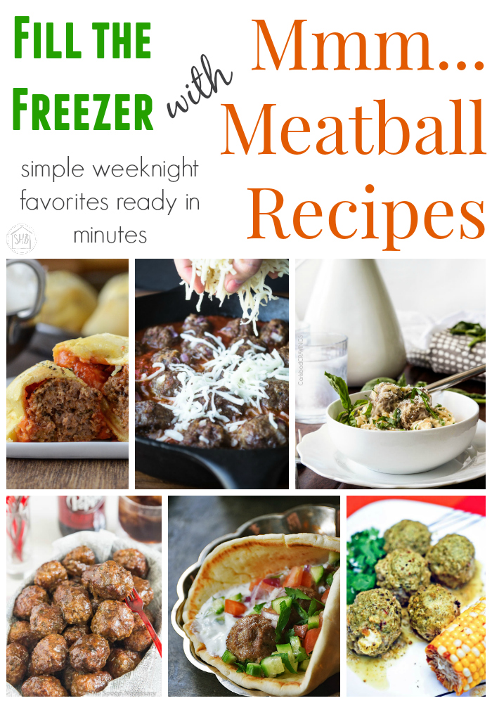 Meatball Recipes perfect for fall.