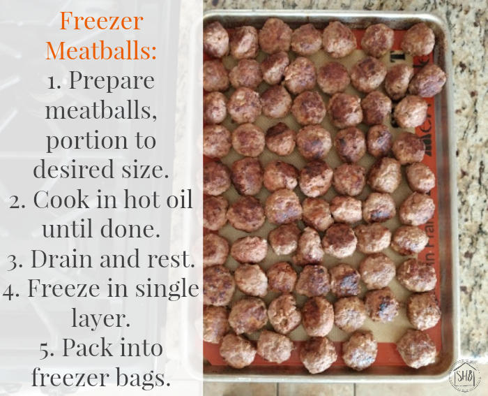 freezer meatballs preparation instructions