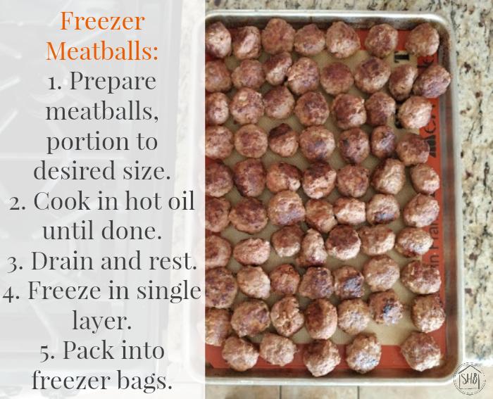 freezer meatballs preparation instructions