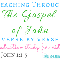 Inductive Study for Kids - The Gospel of John, 1:1-5