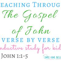 Inductive Study for Kids - The Gospel of John, 1:1-5