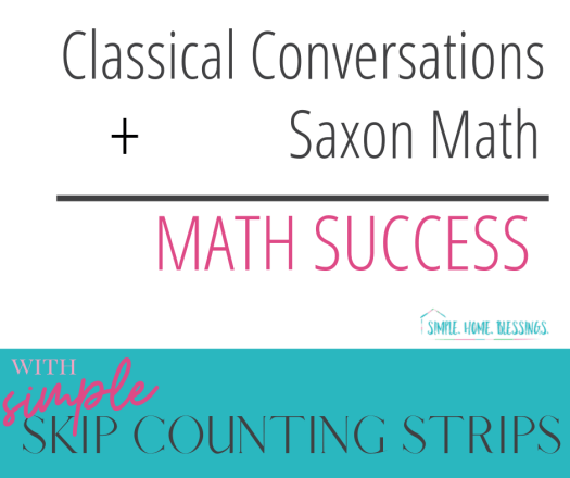 bringing Saxon Math together with Classical Conversations during the morning math meeting is easy with these skip counting strips