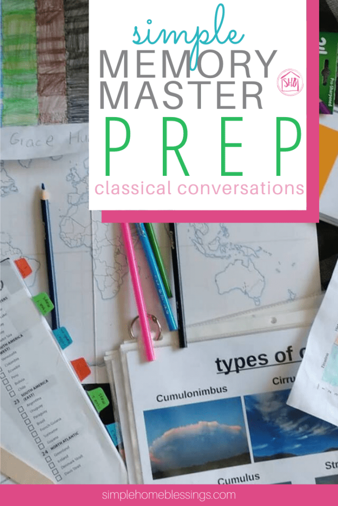 Classical Conversations memory master prep tips  - for any cycle