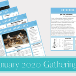 January 2020 Gathering Placemats