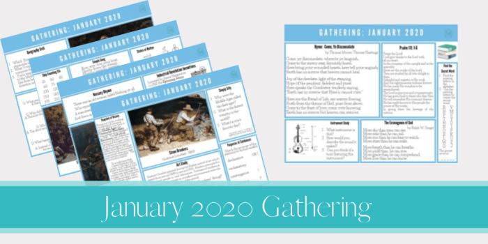 January 2020 Gathering Placemats