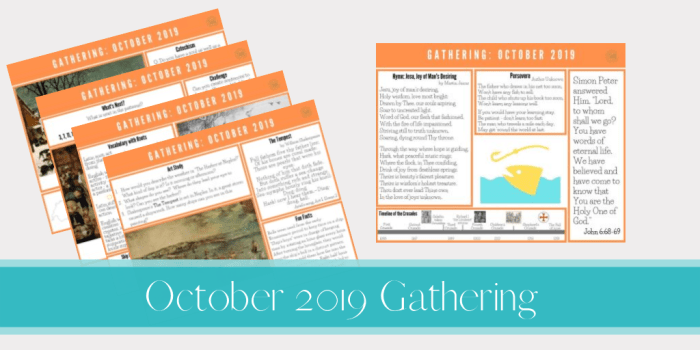 October 2019 Gathering placemats