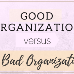 good organization vs bad organization