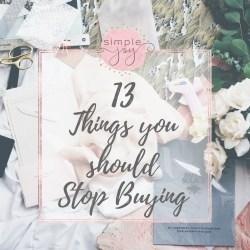 stop buying