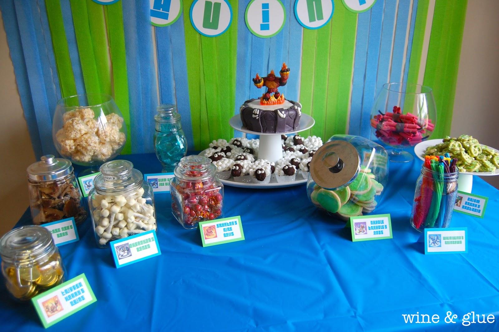 Skylander Party Candy Table Simple Joy