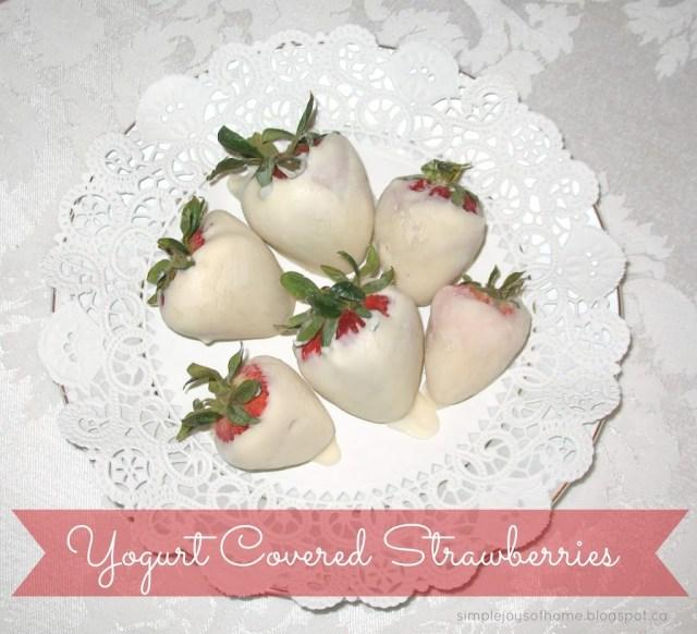 Yummy Dessert Yogurt Covered Strawberries