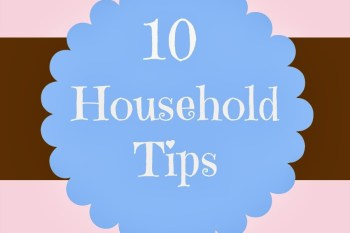 Ten Household Tips