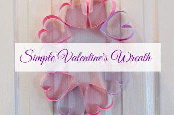 Simple Valentine's Wreath