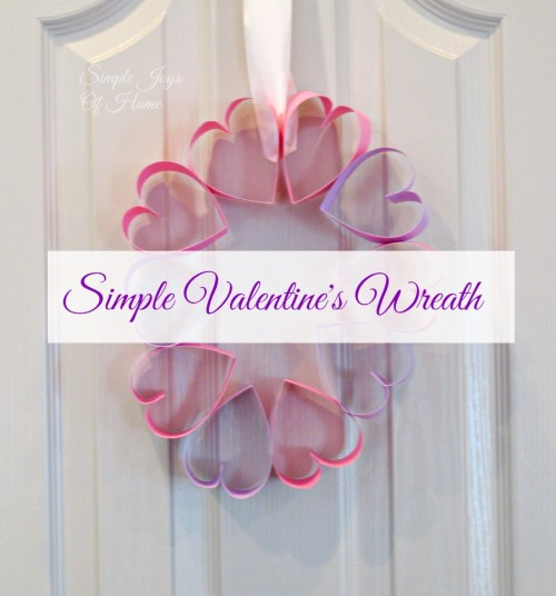 Simple Joys Of Home: Simple Valentine's Wreath