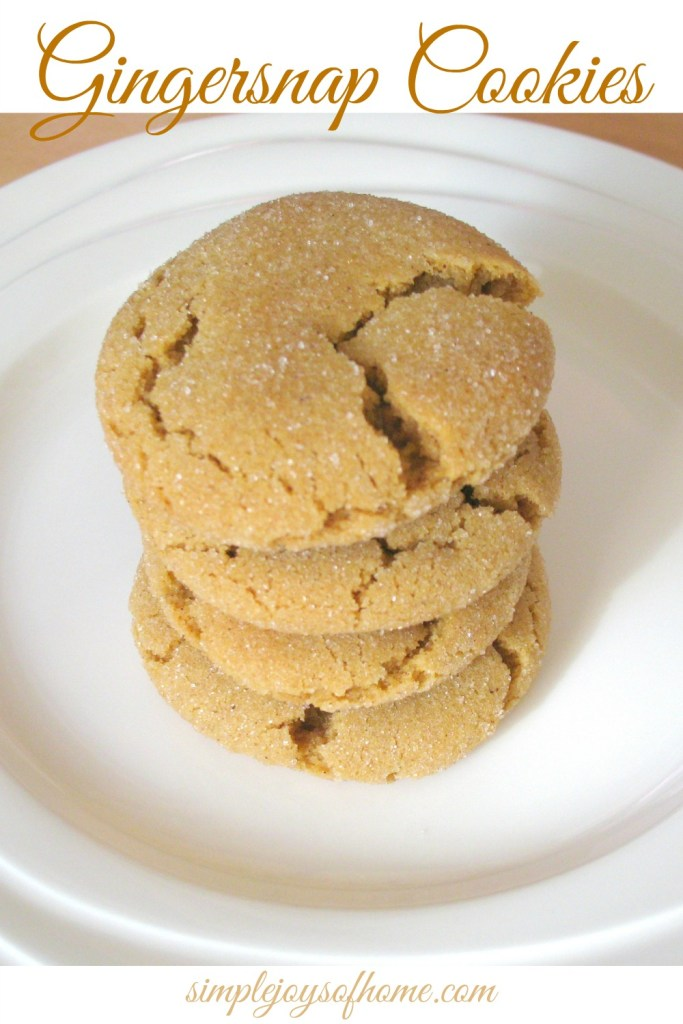 Gingersnap Cookies at Simple Joys Of Home
