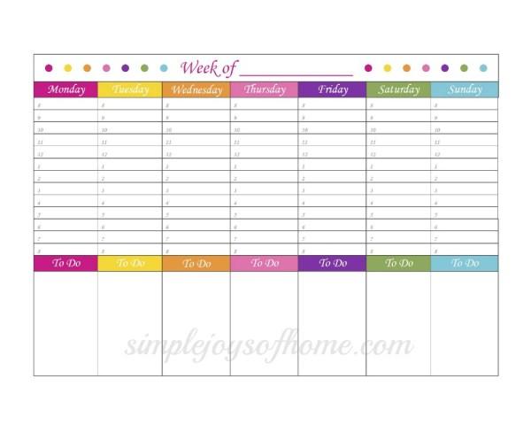 Weekly Planner SJOH