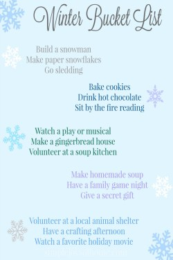 Winter Bucket List at Simple Joys Of Home