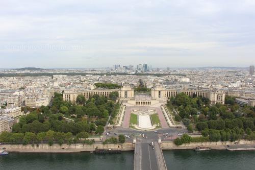 View of Trocadero Gardens - Paris Day 2