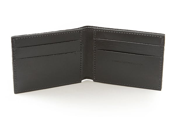 Essential Wallet Black Inside - Simple Leather Belt Co