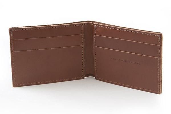 Essential Wallet Bourbon Inside - Simple Leather Belt Co