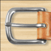 A Simple Leather Belt Co Stainless Slider Buckle