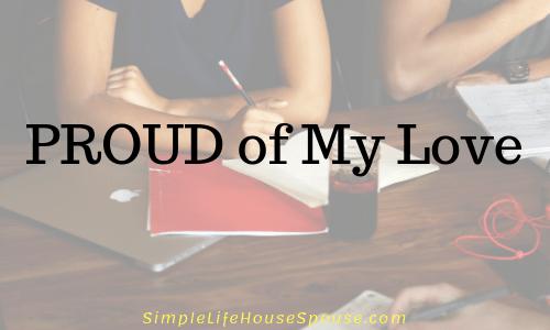 proud of my love