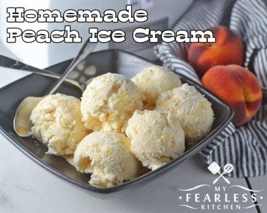 Homestead Blog Hop Feature - homemade-peach-ice-cream