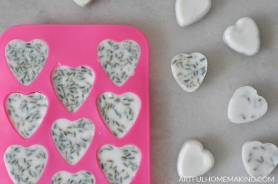 Hoemstead Blog Hop Feature - Easy Lavender-goat-milk-soap-hearts
