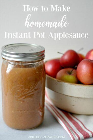 Homestead Blog Hop Feature - how-to-make-homemade-instant-pot-applesauce