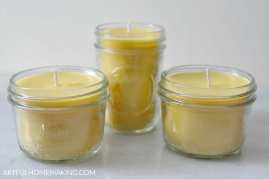 Homestead Blog Hop Feature - make-your-own-beeswax-candles-tutorial