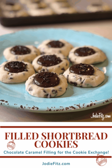 Homestead Blog Hop Feature - Chocolate Caramel Filled shortbread-cookies