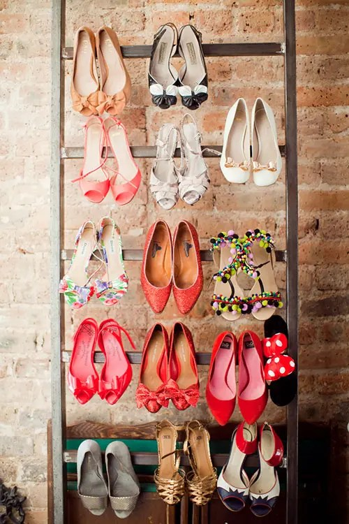 how to organize shoes in the garage