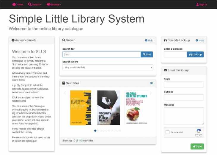 SLLS health library OPAC