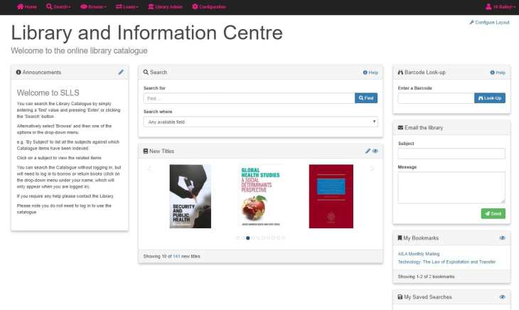 Screenshot of Simple Little Library System
