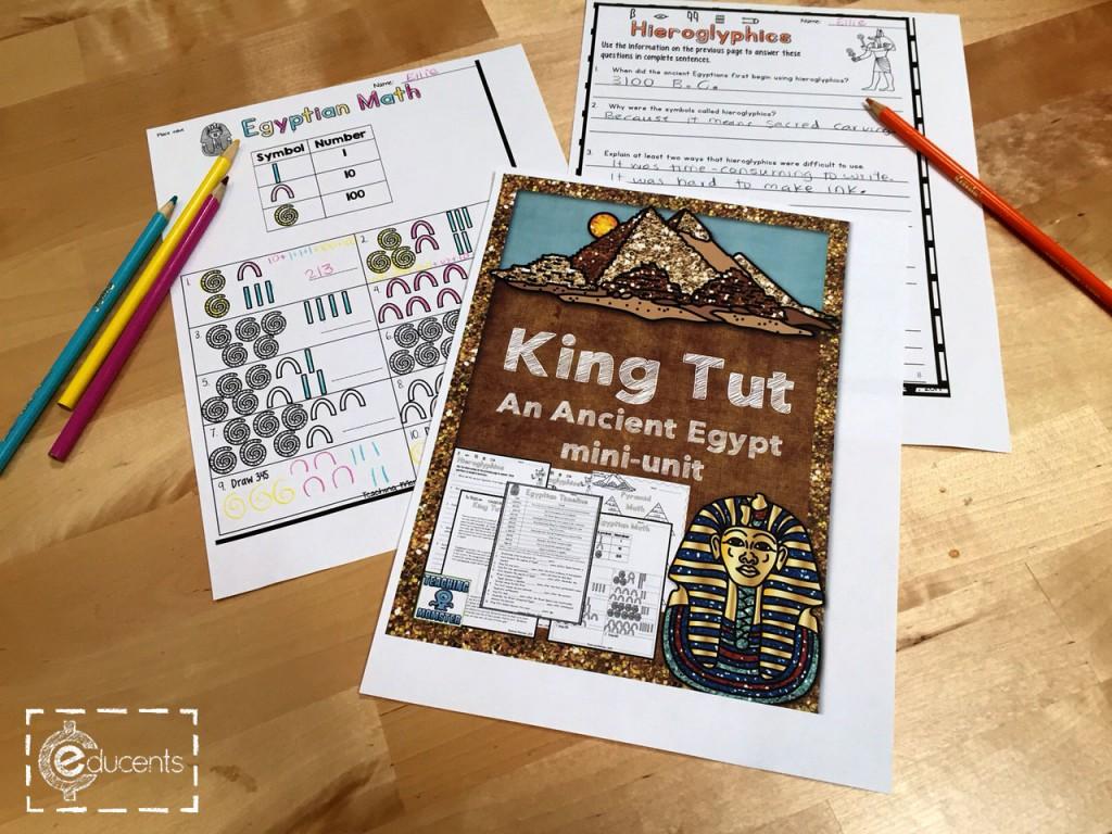 Free Ancient Egypt And King Tut Mini Unit