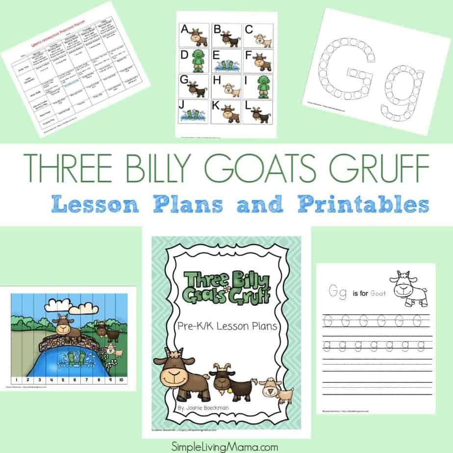 Three Billy Goats Gruff Worksheet