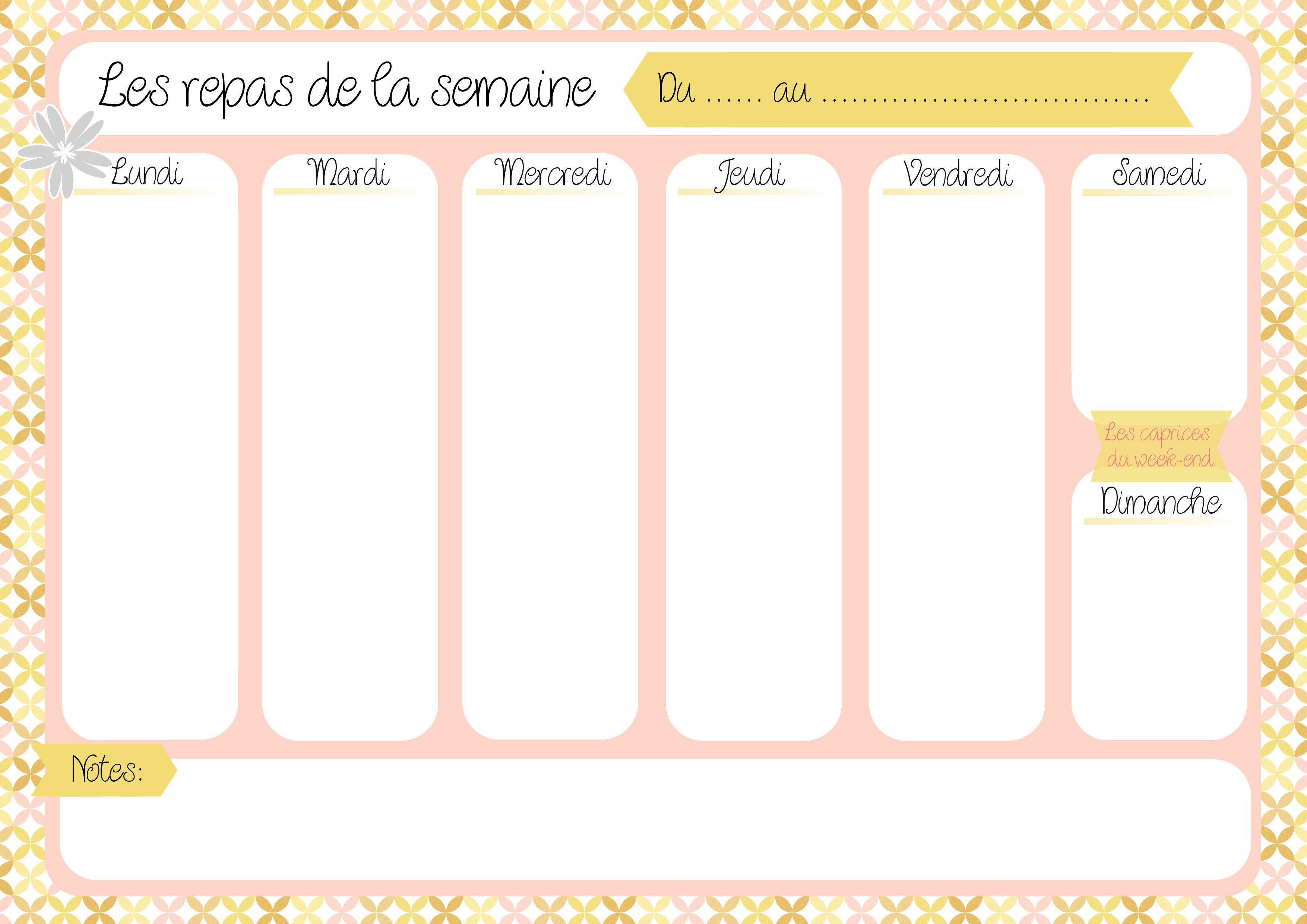Selection De 10 Menus Et Listes De Courses A Imprimer Simplement Organisee