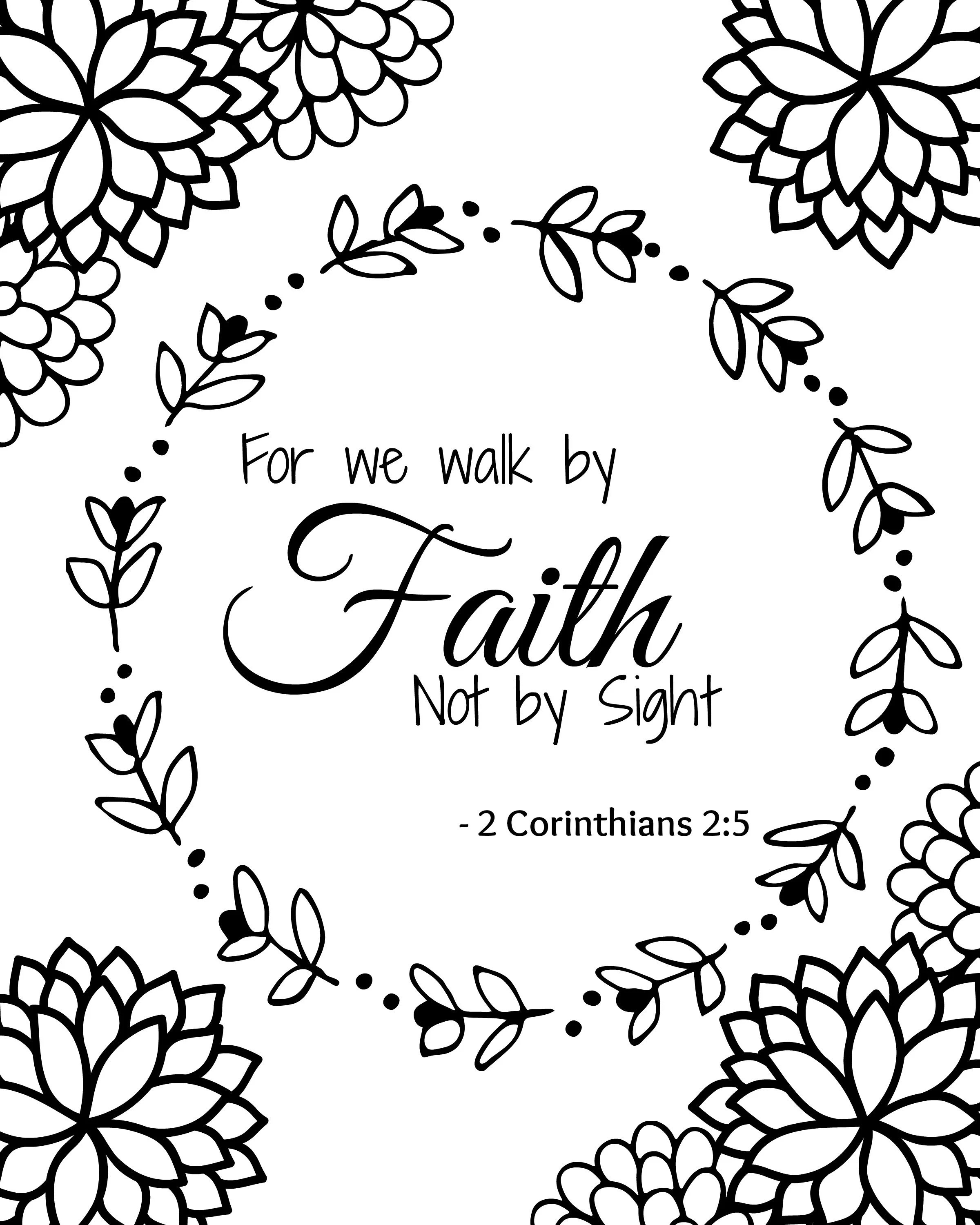 Free Bible Verse Coloring Pages Sketch Coloring Page