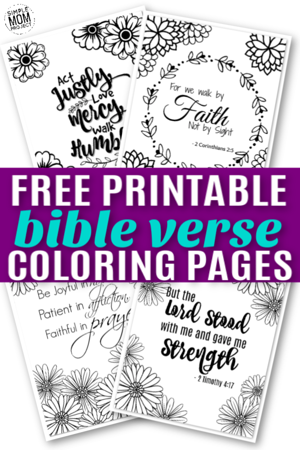 Free Printable Christian Bible Verse Coloring Page