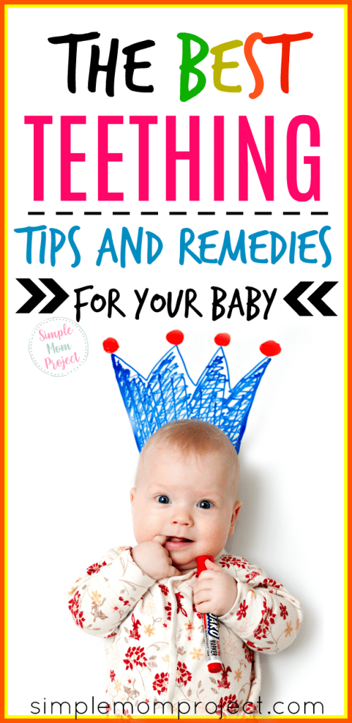 Check out this post for the best teething tips, hacks and natural remedies for your baby. With a free printable teething chart to track when that next tooth is going to come in!